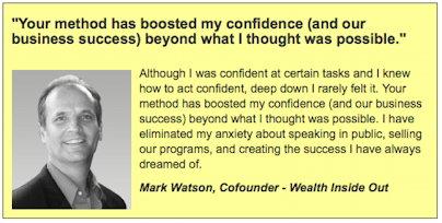 Mark Watson-confidence-testimonial