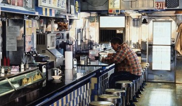 Tom's Diner, watercolor by Ralph Goings