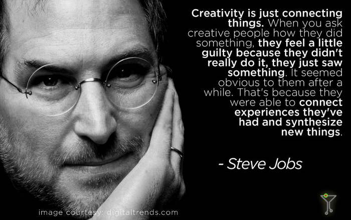 Steve Jobs quote Creativity is just connecting