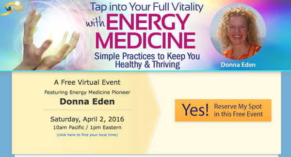 Tap into Your Full Vitality with Energy Medicine webinar