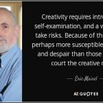 Eric Maisel on the creative value of calming