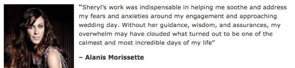 Alanis Morissette testimonial