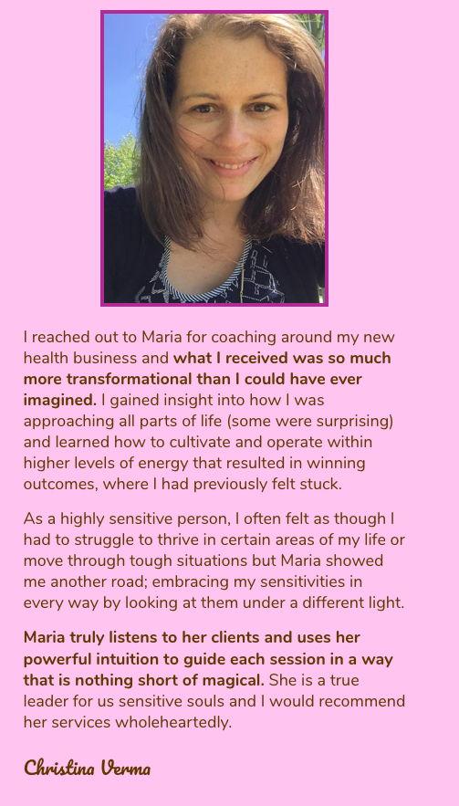 Christina Verma testimonial