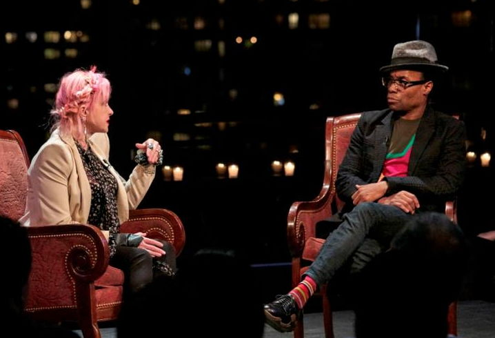 Cyndi Lauper and Billy Porter in Speakeasy tv series