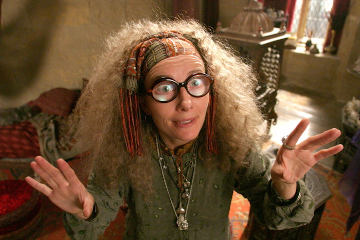 Emma Thompson as Divination Professor Sybill Trelawney