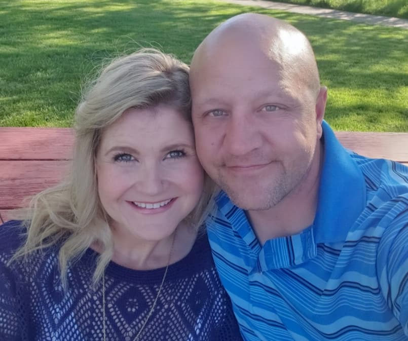 Natalie Donohoo with husband Matthew from her Facebook page